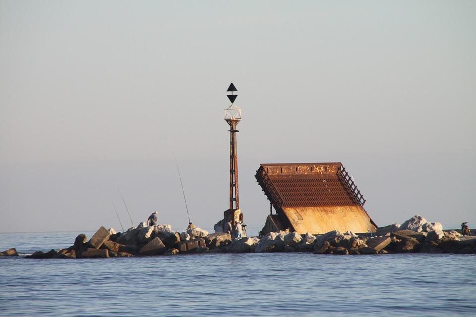 Malaga, Port, Beach, Fishing, Spring
