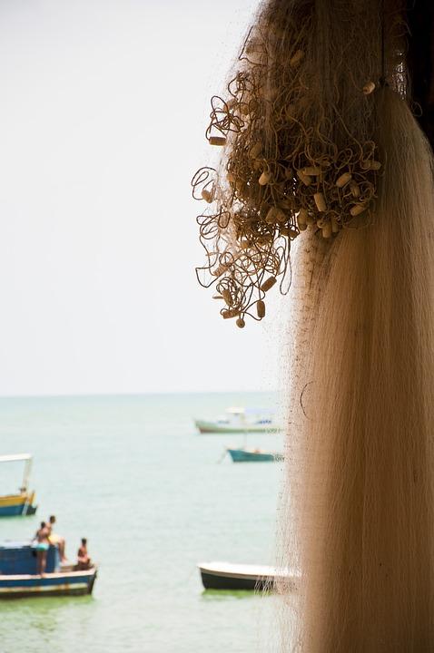Beach, Strong, Bahia, Mar, Brazil, Architecture