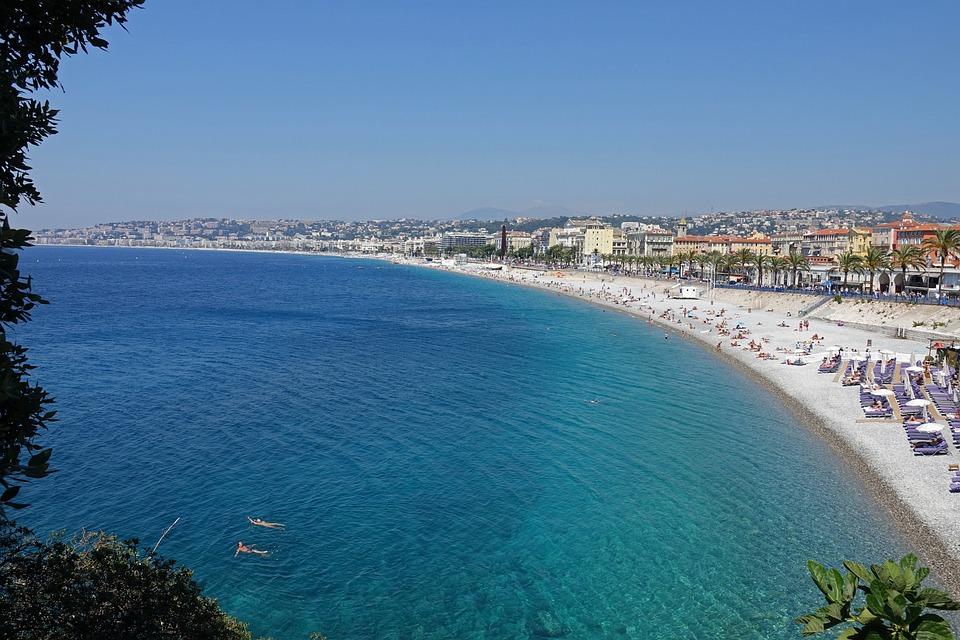Nice, Beach, Mediterranean Sea, Côte D'azur, Bright