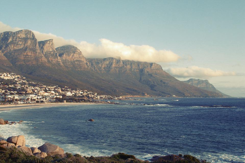 South Africa, Mesa, Nature, Hills, Beach, Coastline