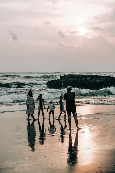 Family, Beach, Bali, Mother, Father, Child, Woman