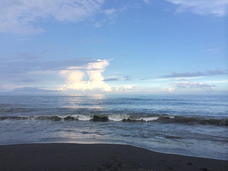 Sea, Blue, Sky, Nature, Cloud, Seacoast, Beach, Seawave
