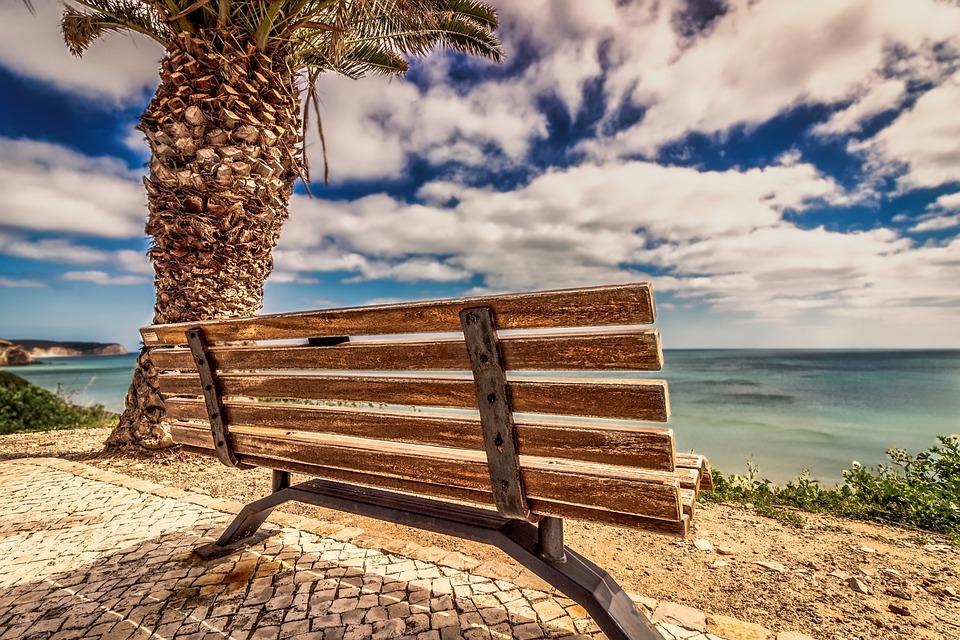 Bench, Beach, Sea, Seashore, Nature, Sky, Coast, Ocean