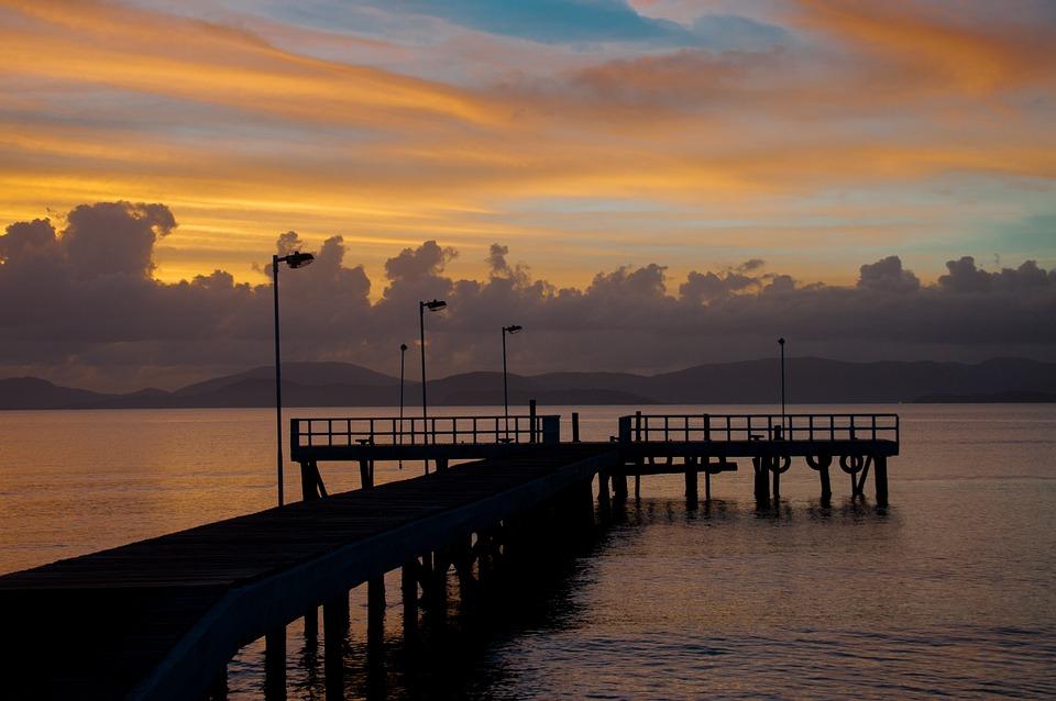Trapiche, Sol, Mar, Beach, Nature, Sunset, Landscape
