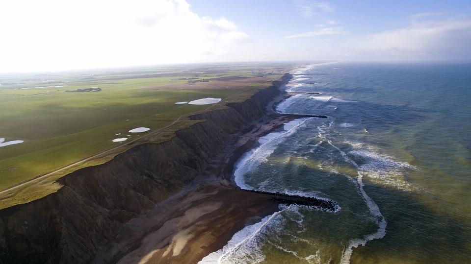 Coast, Denmark, Sea, North Sea, Beach, Landscape