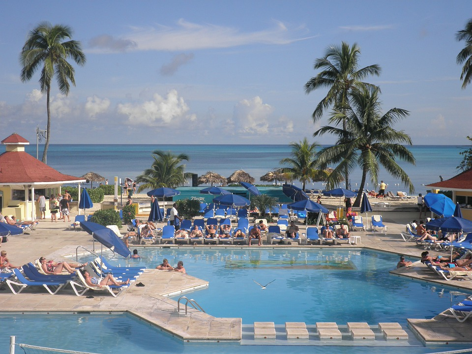 Pool, Hotel, Ocean, Beach, Bahamas, Tropical, Island