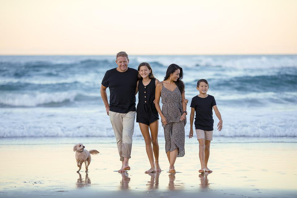 Family, Beach, People, Ocean