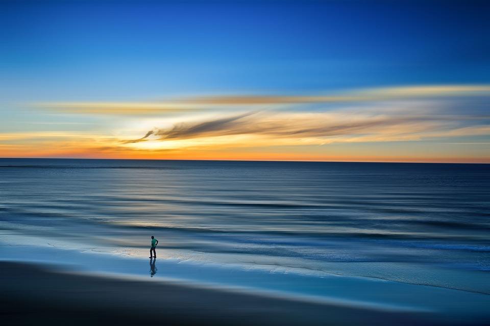 Beach, Calm, Dawn, Dusk, Landscape, Nature, Outdoors