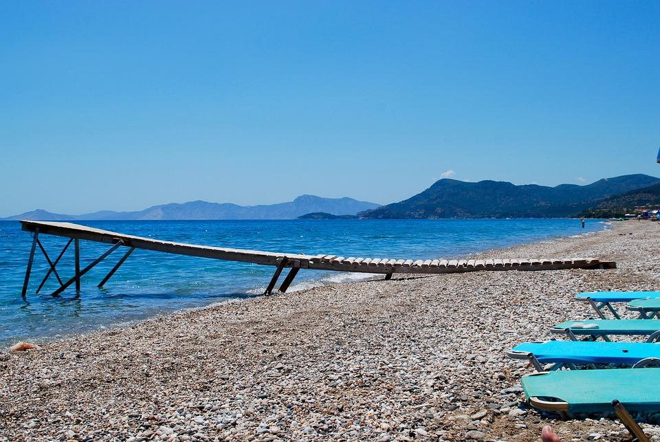 Sea, Beach, Greece, Stones, Outlook, Blue, Vision