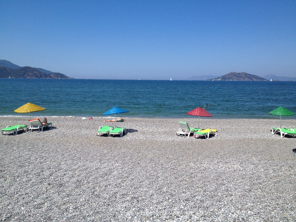 Turkey, Beach, Water, Sea, Relax, Parasol, Holiday