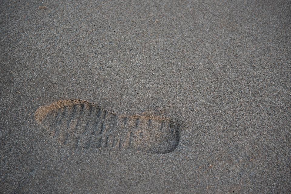 Footprint, Leg, Sand, Beach, Walk, Path, Shoe, Last