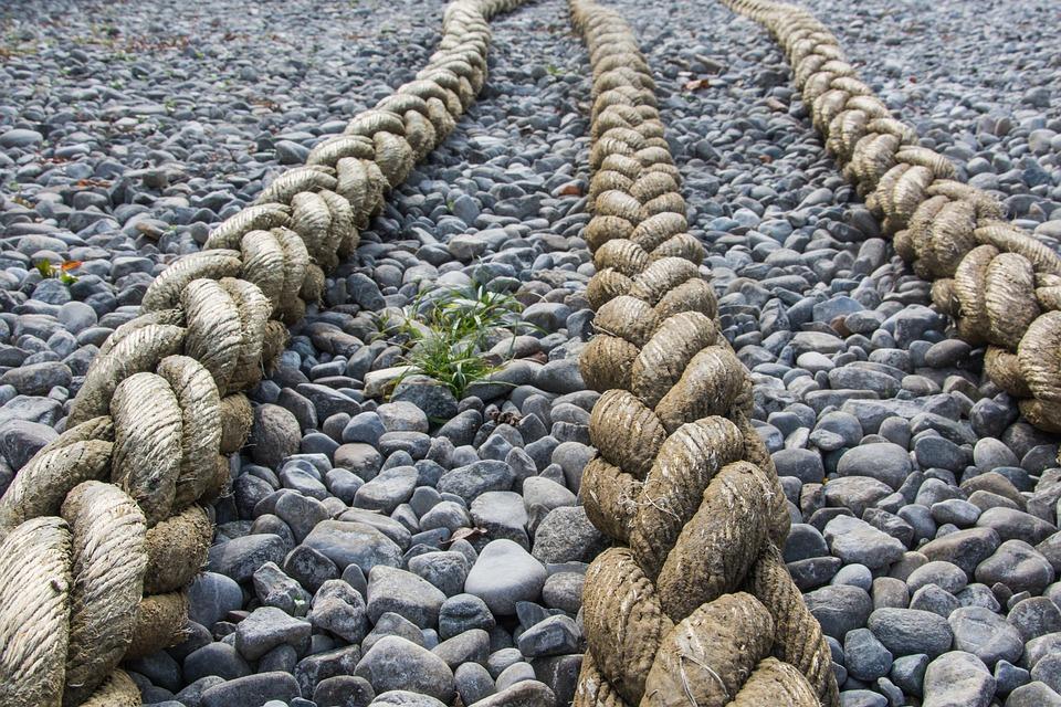 Beach, Stones, Rope, Lake Constance, Pebble