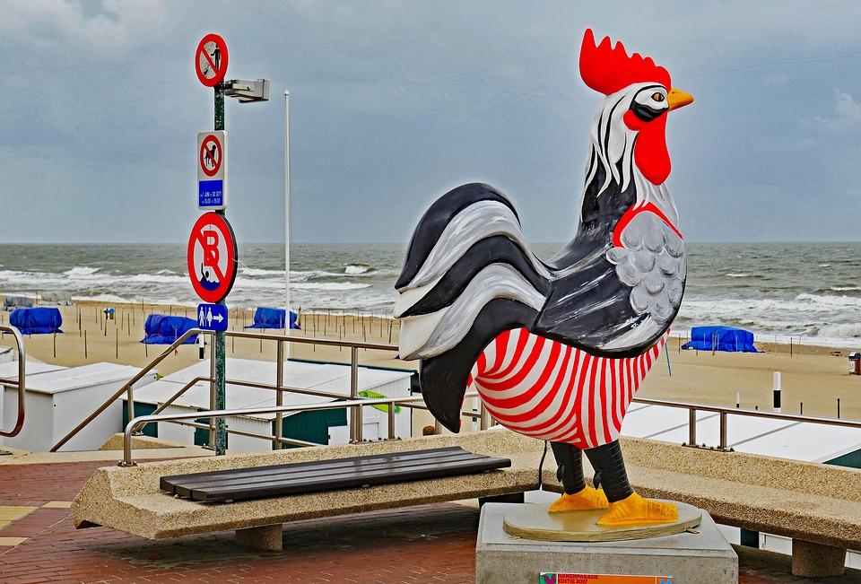 De Haan, Belgium, North Sea Coast, Beach Promenade