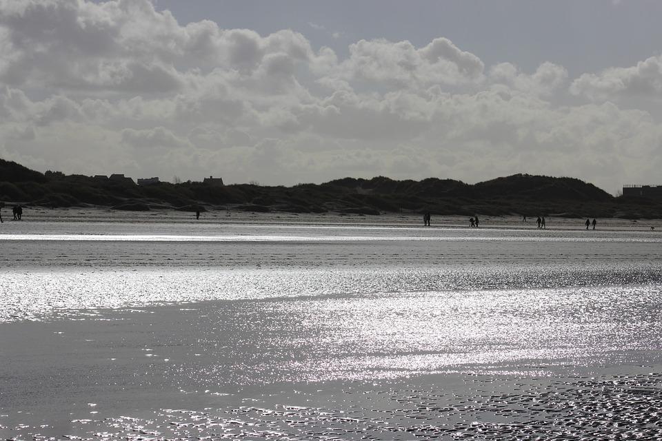 Sea, Beach, Reflections