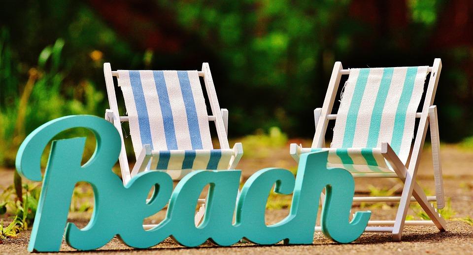 Sun Loungers, Beach, Font, Summer, Sun, Relaxation