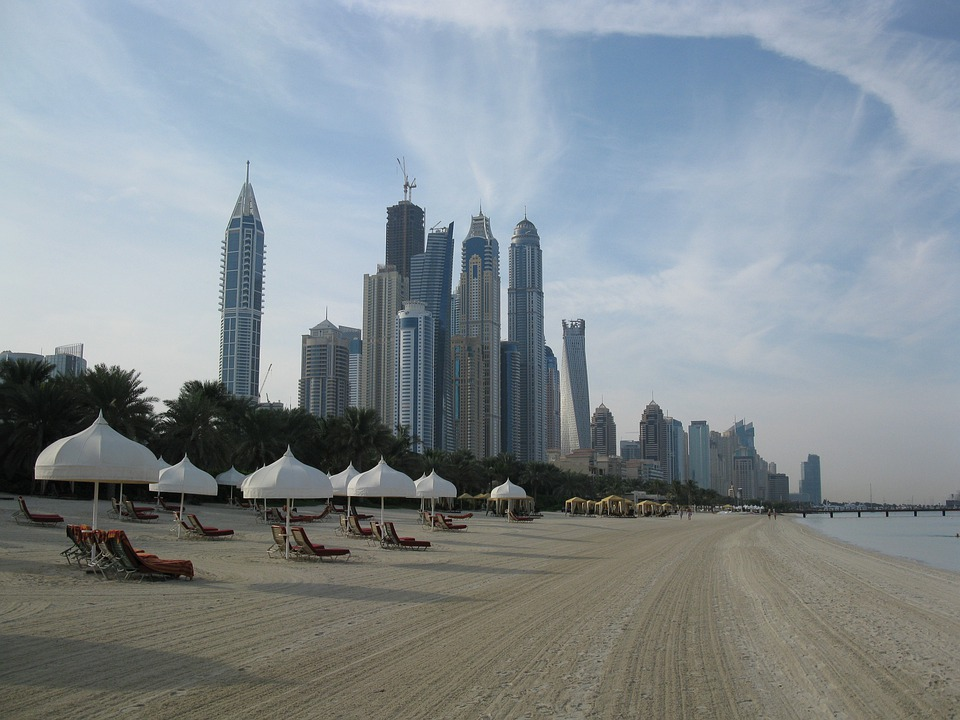 Dubai, Skyscrapers, High Rises, Beach, Hotel, Resort