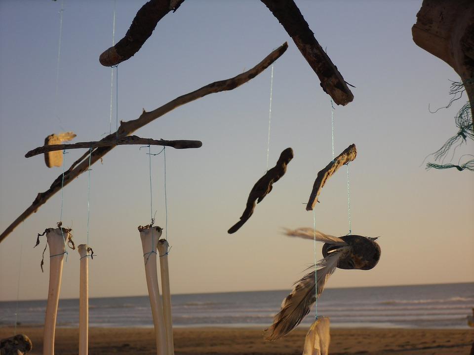 Abendstimmung, Beach, Art, Flotsam, Rest