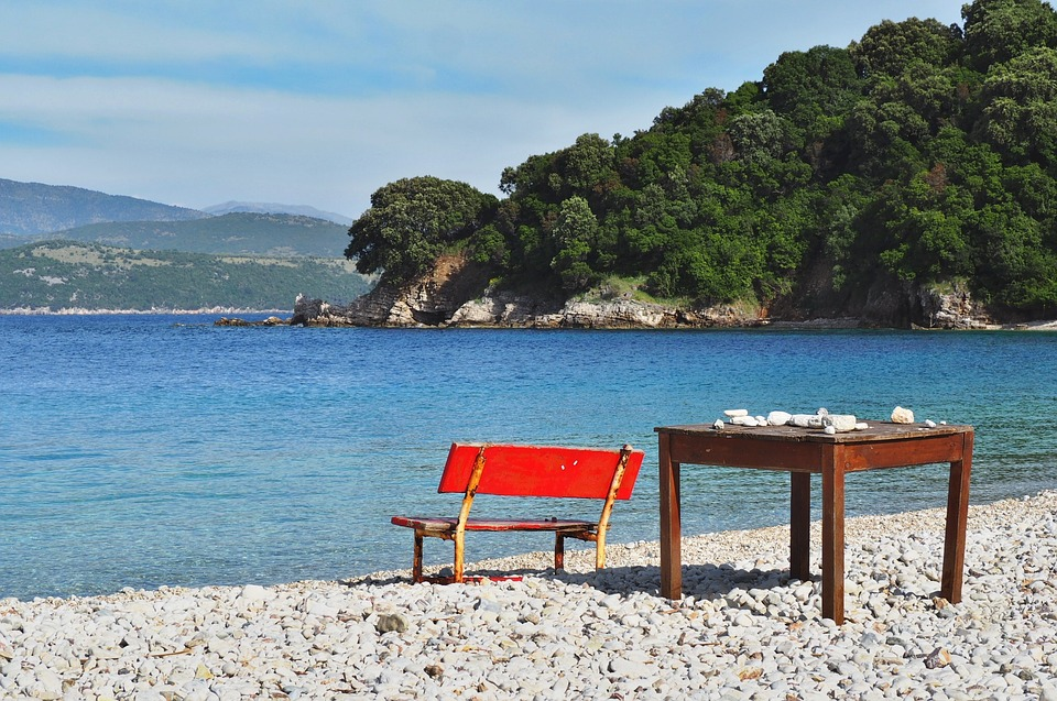 Sea, Table, Chair, Beach, Nature, Rest, Wood, Seating