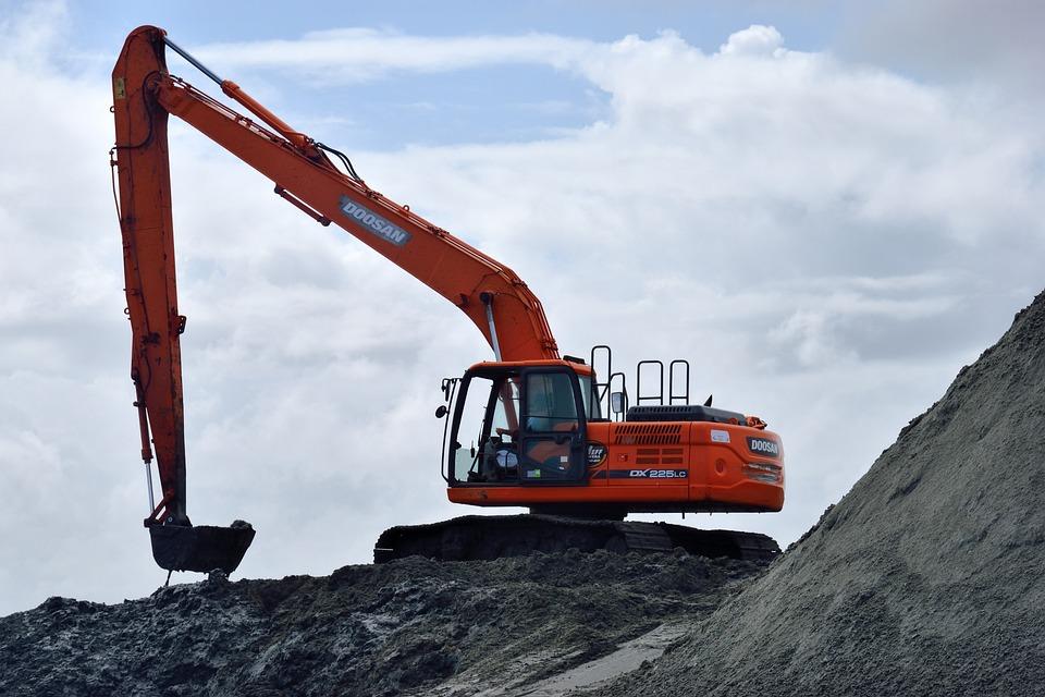 Backhoe, Construction Site, Heavy Equipment, Beach Sand