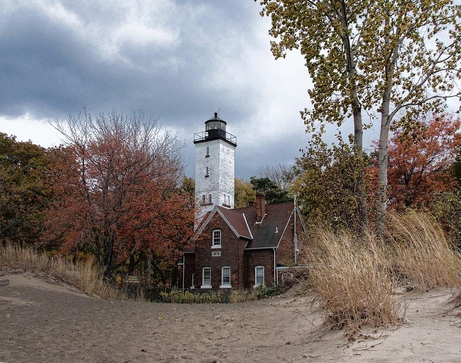 Lighthouse, Sand, Light-house, Beach