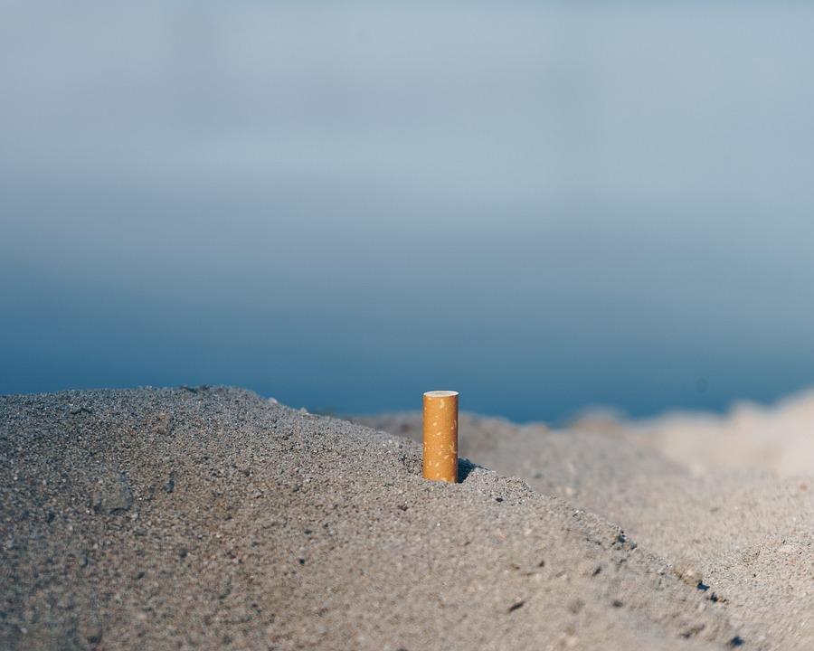 Cigarette, Beach, Garbage, Ash, Marlboro, Lundm, Sand
