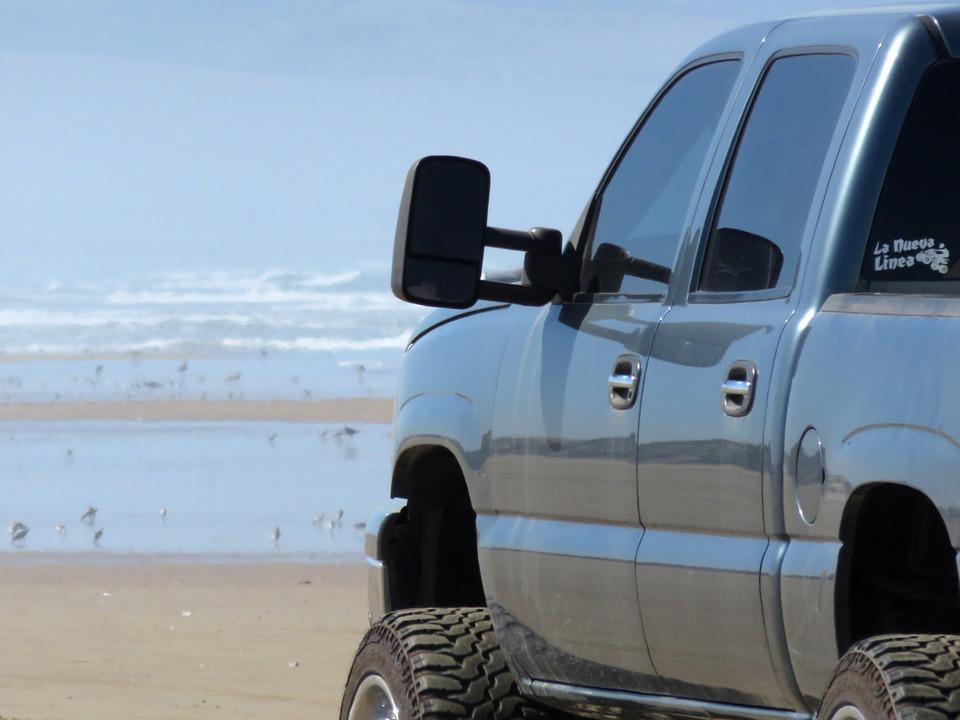 Truck, Beach, Sand, Vehicle, Travel, Sea, Summer, Coast