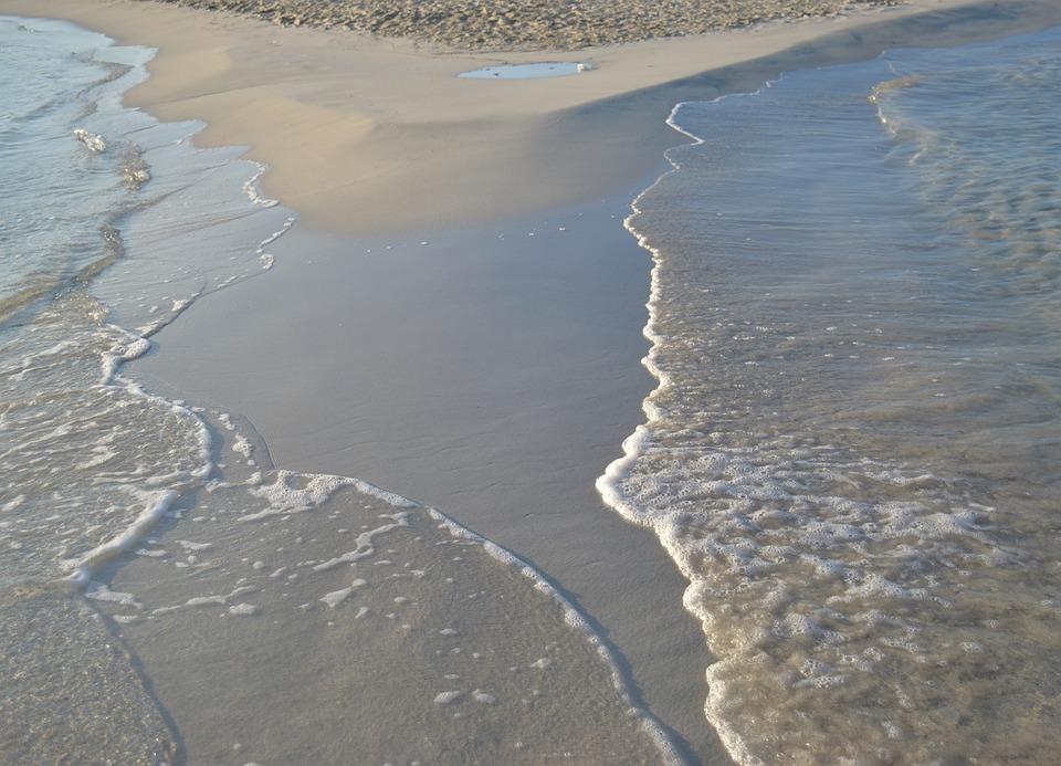 Beach, Wave, Sea, Water, Sand, Shoal