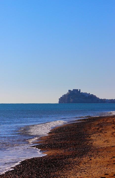 Sea, Beach, Horizon, Blue, Spain, Waves, Water, Holiday