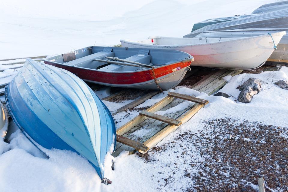 Sea, Snow, Winter, Boat, Boats, Cold, Beach, Water