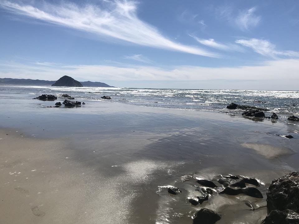 Water, Beach, Ocean, Sea, Sky, Clouds