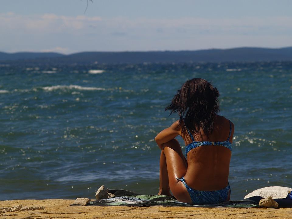 Girl, Sea, Coast, Beach, Summer, Water, Young, Ocean