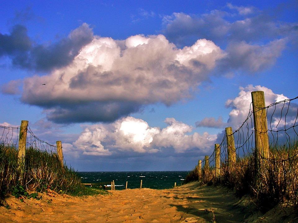 Beach, Sea, Dunes, Air