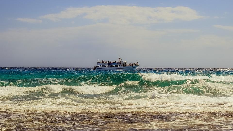 Waves, Coast, Sea, Beach, Nature, Seascape, Boat