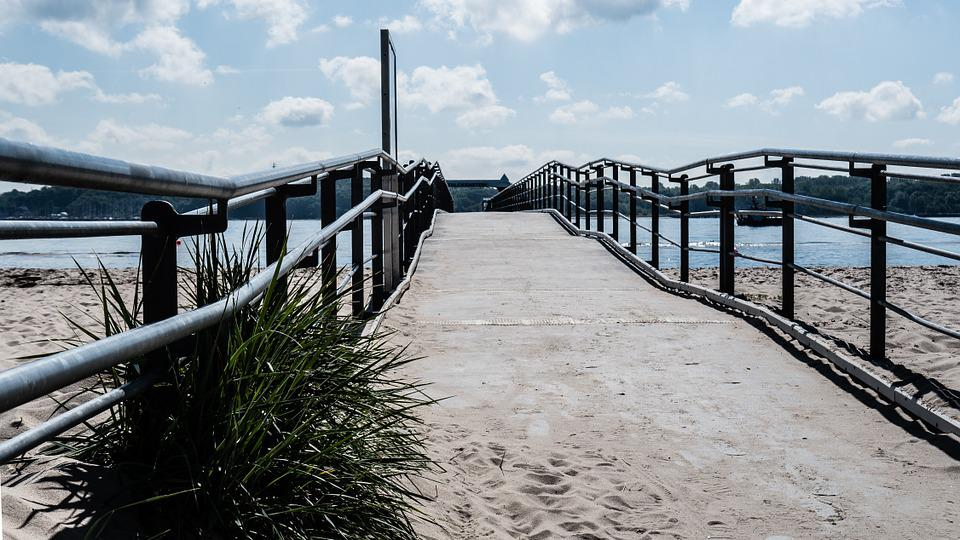 Pier, Bridge, Sea, Beach