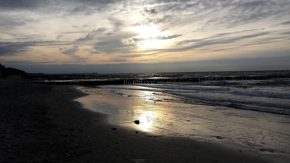Sunset, Sea, Beach, Romance, Evening Sky, Sun And Sea