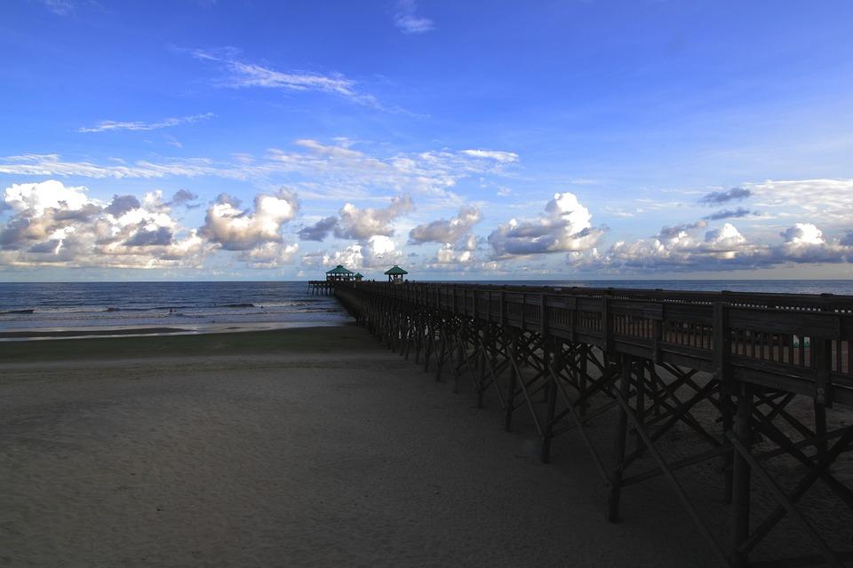 Pier, Folly, Dock, Beach, Sea, Shore, Coast, Sky