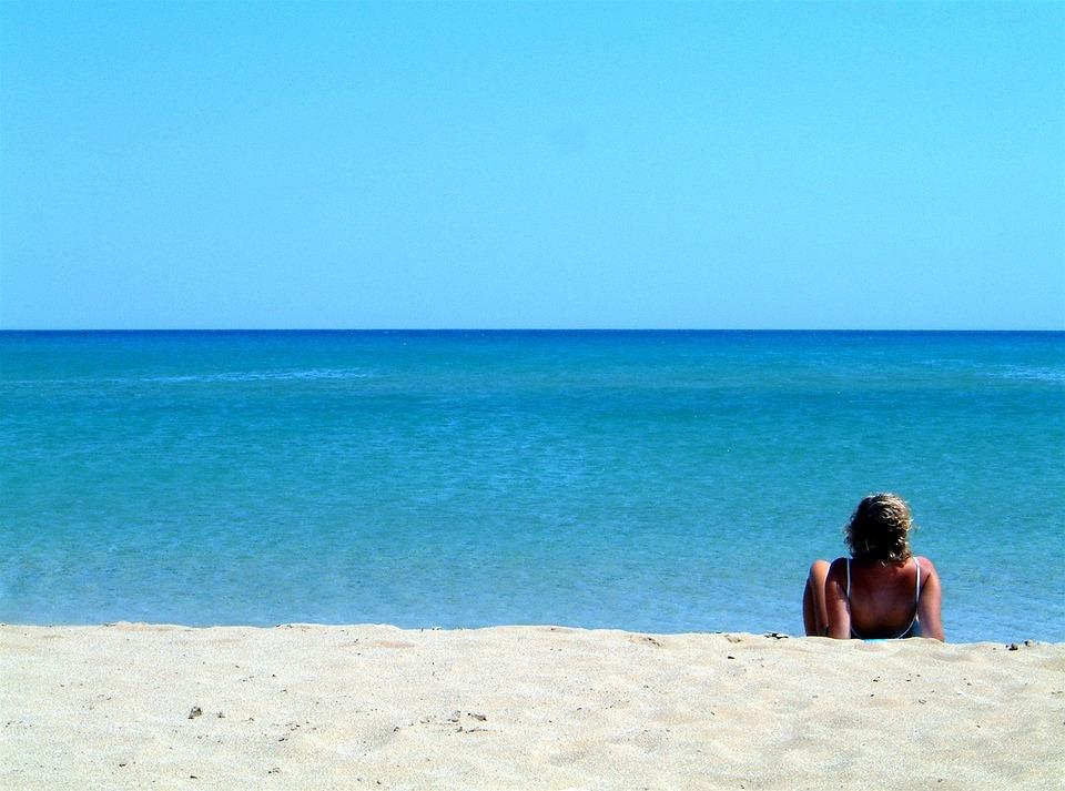 Beach, Relax, Sicily, Person, Summer, Sea, Sun