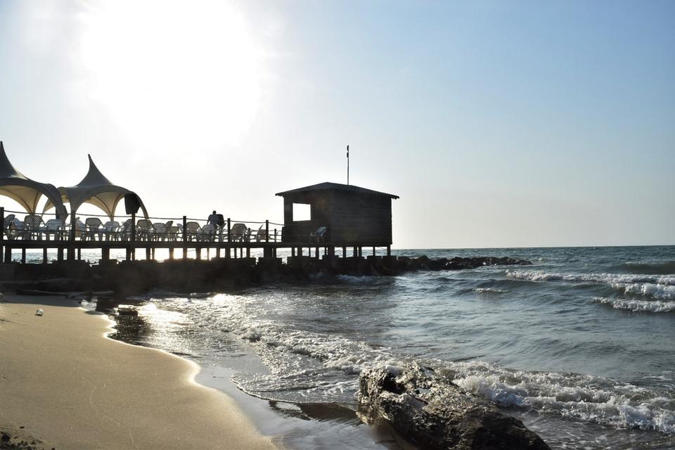 Setting Sun, Sea, Sky, Sunset, Ocean, Beach, Landscape