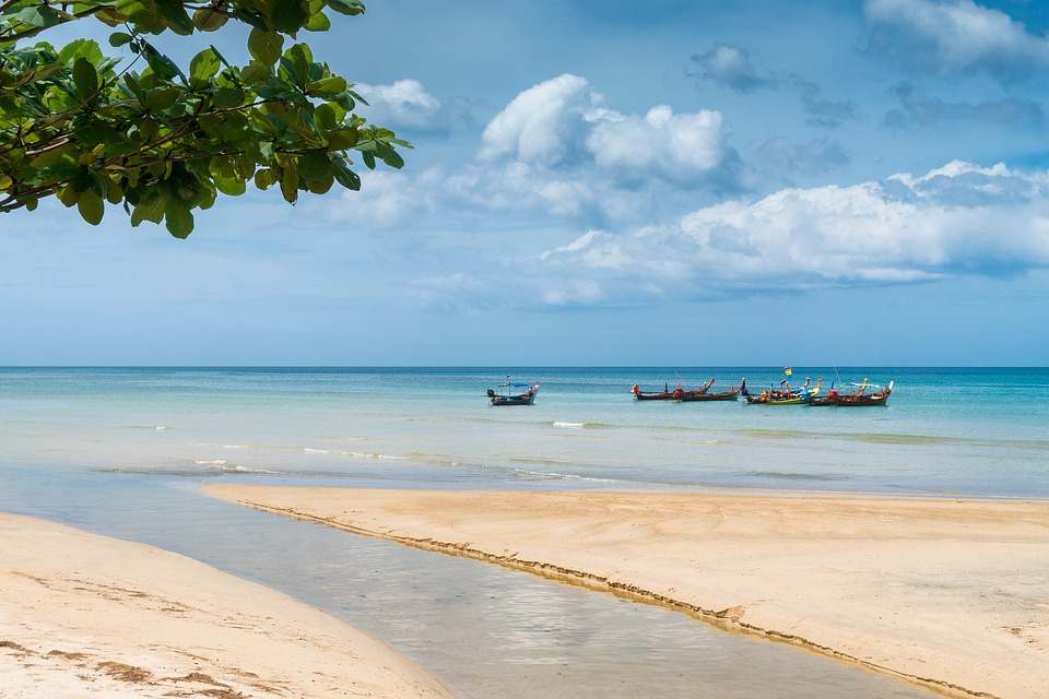 free photo beach sea thailand phuket tropical water boats max pixel