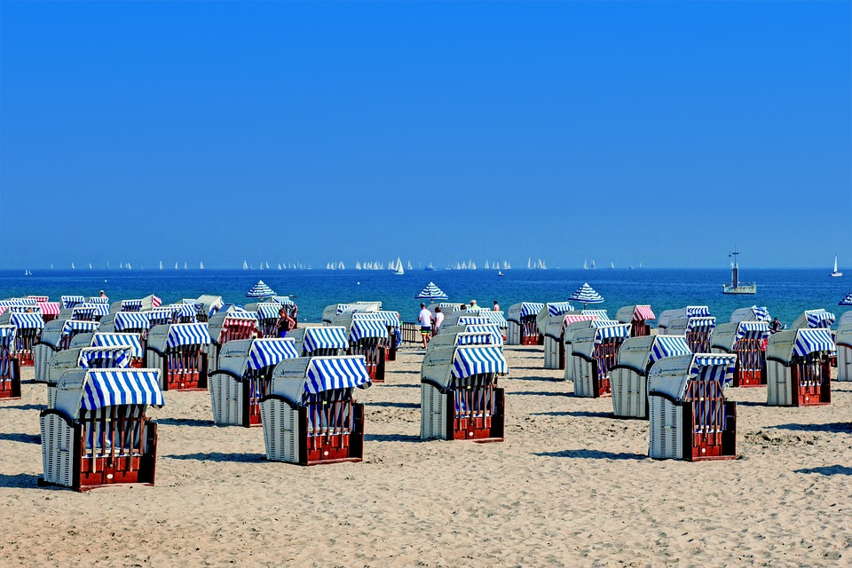 Clubs, Beach, Baltic Sea, Holiday, Wind, Sand, Sea