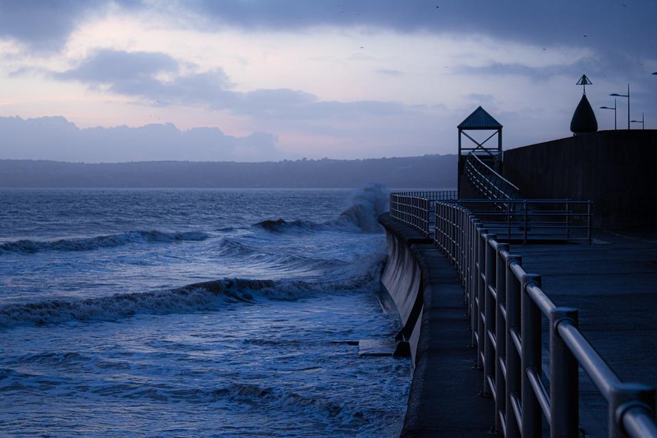 Seascape, Sea, Seawall, Beach, Ocean, Sky, Water