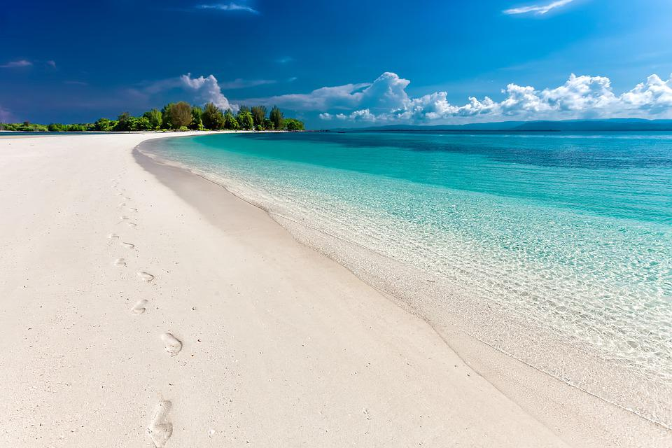 Beach, Sea, Footprints, Sand, Sandy Beach, Seashore