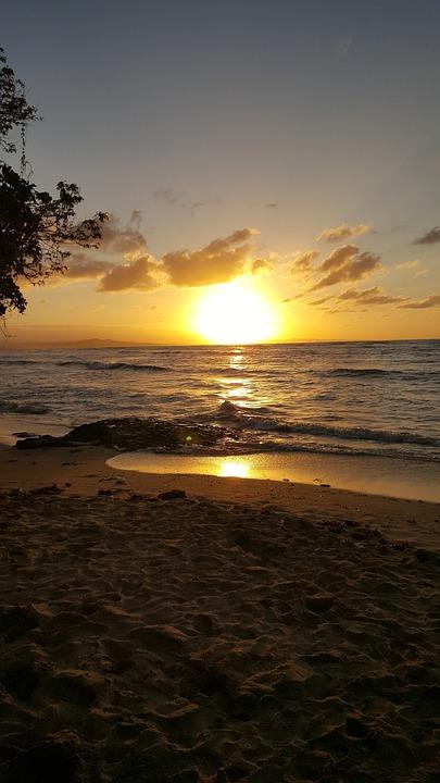 Sunset, Sun, Beach, Sand, Coast, Coastline, Seashore