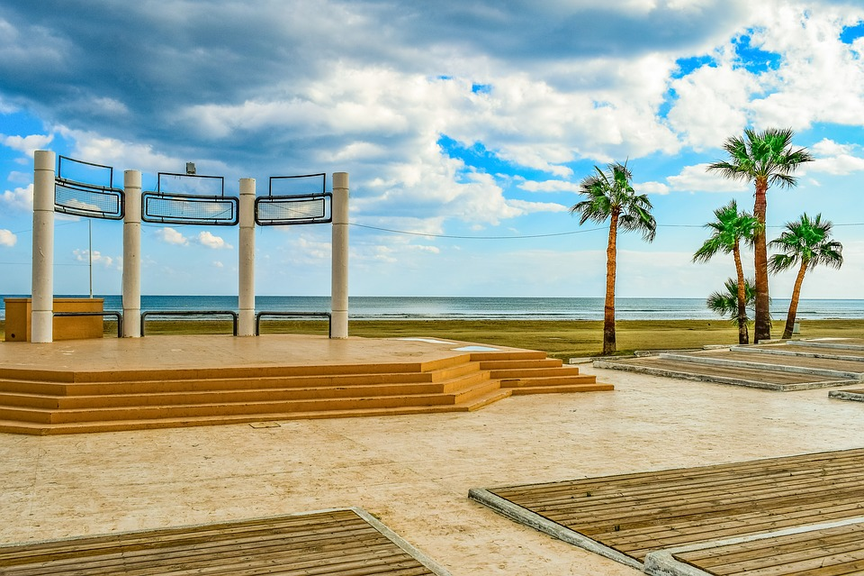 Park, Seaside, Beach, Architecture, Sky, Clouds, Urban
