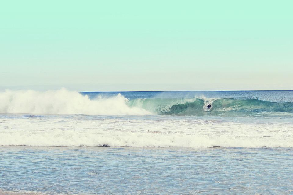 Beach, Ocean, Sea, Sand, Surf, Tidal, Gravity, Sets