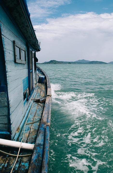 Sea, Beach, Ship, Ocean, Summer, Sky, Vacation, Travel