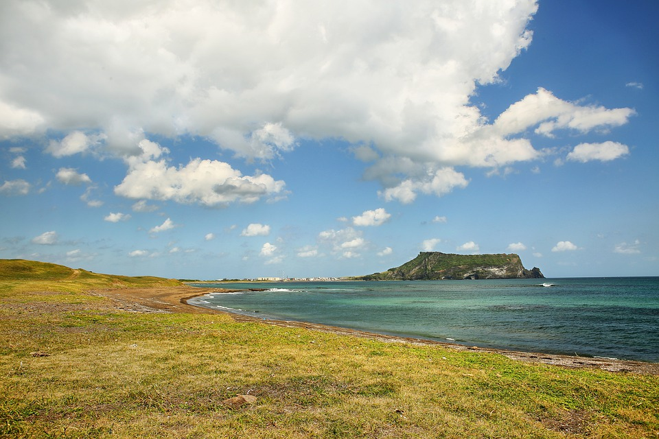 Shiroyama Hiji Peak, Sea, Island, Beach, Landscape