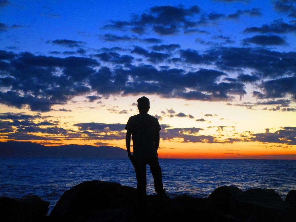 Puerto Vallarta, Beach, Mexico, Sky, Sea, Sunset