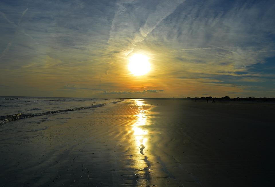 Sunset Beach South Carolina Sea Ocean
