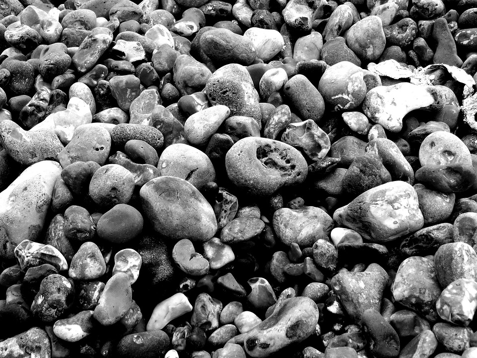 Stones, Bank, Beach, Pebbles, Sea